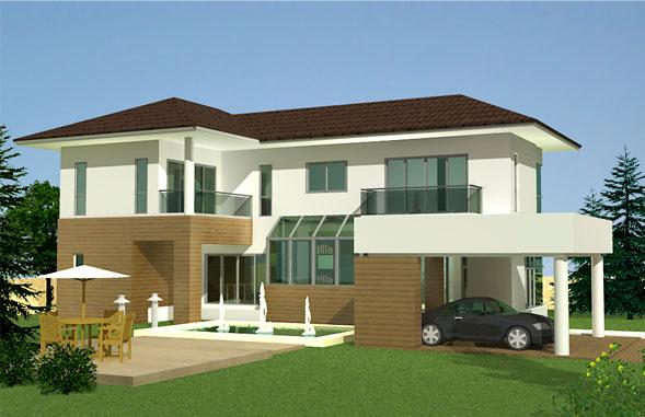 ลักษณะของบ้าน : บ้าน 2 ชั้น